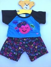 Build a Bear Teddy Bear Clothing - New Hearts & Smiles Pajamas PJ's - 2 pc.