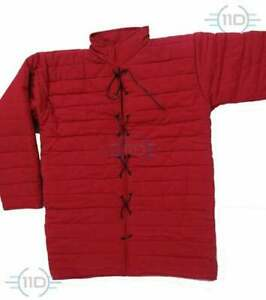 New gambeson red color medieval Reenatment Costume SCA