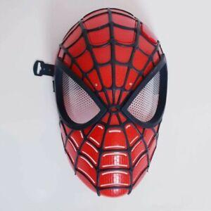 Marvel Spider-man Kids Costume Mask Cosplay Avengers Light Up Face Shield