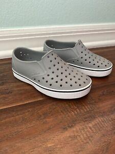 SOLD OUT! Native Jefferson Slip On Shoes Little Boy's Size 11 11M Gray Grey EUC