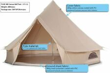 5M Waterproof Canvas Bell Tent Glamping Hunting Camping Tent Yurt  Outdoor New