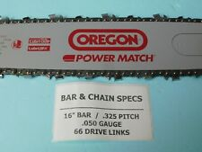 Pack Of 2 325 Pitch 050 or 1.3mm Gauge 66 Drive link Chainsaw Chains  GHS 1951