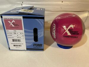 NIB Storm Breast Cancer Awareness bowling ball. Strike Out Cancer