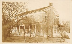 Huntington Indiana~Christian Kauff Home~Estate Single Register Heater~c1920 RPPC