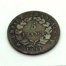 1811-A  I FRANCE 5 FRANCS NAPOLEON EMPEREUR EMPIRE FRANCAIS LIMOGES RARE COIN