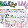 12pcs in 1 Animal Nail Art Water Decal Transfer Stickers Nail Tips Decoration