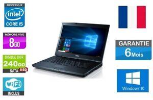 """Ordinateur Portable Dell Latitude E6410 i5 /240 SSD/ 8Go Ram / 14.1"""" /W10 AZERTY"""