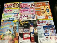 Decorative Arts Painting, Lot Of 10 Magazines, 1997-1998, With Patterns