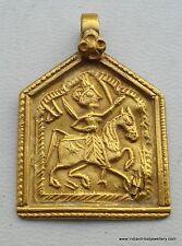 22k VINTAGE ANTIQUE TRIBAL OLD GOLD AMULET PENDANT