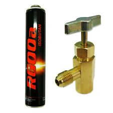 More details for refrigerant gas canister r600a 420g isobutane with bottle valve refrigeration