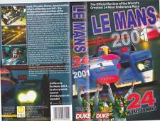 MOTOR SPORT LE MANS 2001 A RARE FIND  VIDEO  PAL VHS