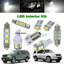 7x White LED Map Dome Light interior bulb package kit fit 2002-10 ford Explorer