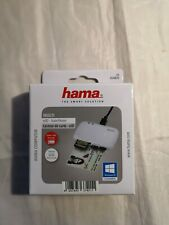 Hama - Multi Chip Card Reader, for smart cards/ID cards/memory cards - White