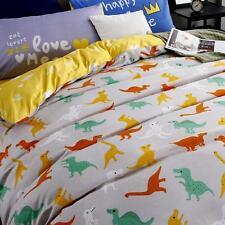 Single Queen King Gift Bed Set Pillowcase Quilt Duvet Cover LAUB Dinosaur Home l
