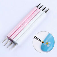 Nail Art Dotting Pen Rhinestone Picker Marbleizing Tool Manicure Painting 2-Way