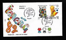 Copa Mundial Futbol España 1982 Edifil 2644, 2645 Oviedo En Sobre Primer Día
