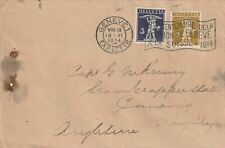 1914 Switzerland/Helvetia cover sent from Geneve to Kingsley England