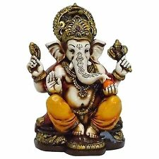 Lightahead The Blessing. A colored  Gold statue of Lord Ganesh Ganpati Elephant