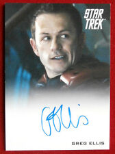 STAR TREK (2009 FILM) GREG ELLIS, Ch. Eng. Olsen LIMITED EDITION Autograph Card