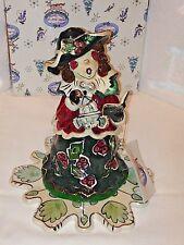 Christmas Collection Bluesky Clayworks 2001 Caroler Tealight Heather Goldminc