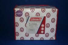 Coleman Lantern Flannel Sheets Logo FULL SIZE BED BRAND NEW!