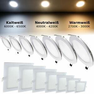 Panneau LED Spot Encastré Applique Plafonnier Luminaire Lampe Intensité Variable