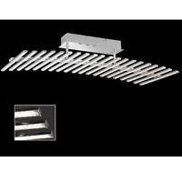 Ausgefallene 60W LED Kristall Deckenleuchte dimmbar Chrom Deckenlampe LED