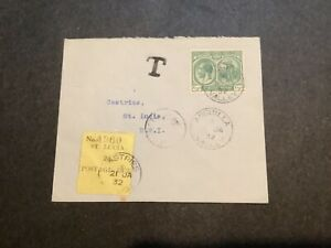 1932 ST.LUCIA POSTAGE DUE COVER