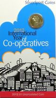 2012  INTERNATIONAL YEAR OF CO-OPERATIVES Coin on Card
