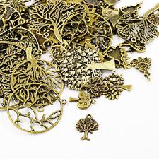 Packet 30 Grams Antique Bronze Tibetan 5-40mm Tree Charm/Pendant Mix HA07080