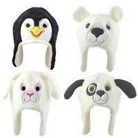 Baby Hat Winter Beanie Animal Warm Fleece Ear Flaps Boys Girls 6-12 12-18 Months