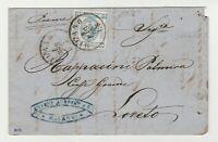 """STORIA POSTALE - 1863 REGNO LITOGRAFICO C.15 I° TIPO """"C"""" CHIUSA MILANO  E/2961"""