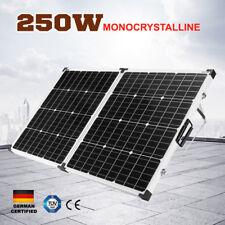 250W Folding Solar Panel Kit 12V Caravan Camping Power Mono Charging 250Watt
