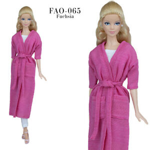 FAO-065 fuchsia cardigan+pants+ crop top outfit for Barbie and similar 12''dolls