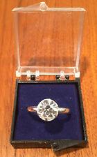 Vintage Vending Machine NOS Faux Diamond Adjustable Toy Engagement Ring NIB