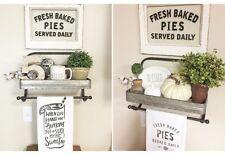 Farmhouse Galvanized Metal Shelf and Towel Rack~Kitchen~Bath