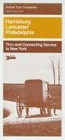 [75423] 1977 AMTRAK HARRISBURG, LANCASTER, PHILADELPHIA PUBLIC TIMETABLE