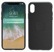 GENUINE CYGNETT BLACK CARBON FIBRE URBANSHIELD SLIM CASE COVER FOR IPHONE X