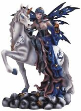 "10"" Inch Beautiful Sexy Fairy with Unicorn Statue Figurine Figure Fairies Magic"
