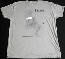 American Apparel Nude Naked Lady 50/50 Grey Cotton Promo T Shirt Mens 2XL