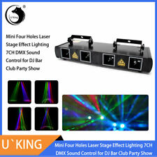 U`King Laser 460mW 4 Lens Beam RGPY DMX Stage Lighting Party Show Club Projector