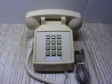 ITT Model 2500 Series YELLOW Push Button Telephone (UNTESTED)