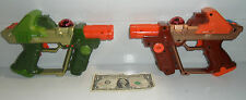 Set Of  2 Tiger Electronics Lazer Tag Laser Gun Team Ops Game Tested-Works-Laser