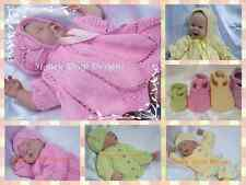 Honeydropdesigns * Springtime Combo *2 PAPER KNITTING PATTERNS* Baby/Reborn
