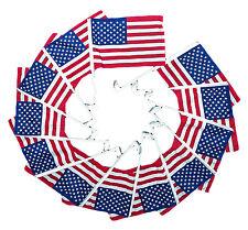 "100 Pack 9.25x13 USA American U.S.A. Car Window Clip on Vehicle 9.25""x13"" Flag"