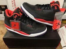 New Air Jordan 3 Retro Jokers Black Bright Crimson Purple Size 10.5 (136064-005)