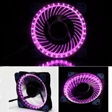 5pcs Eclipse Purple LED 12V 12cm 120mm 120x120x25mm PC CPU Case Cooling Fan