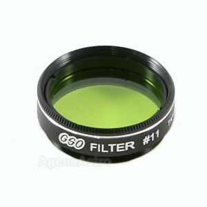 """GSO 1.25"""" Color / Planetary Filter - #11 Yellow / Green"""
