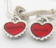 Authentic Pandora Mother Daughter Pendants Piece of My Heart Charm 790950EN2