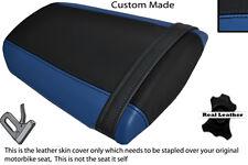 Royal Blue & Negro Custom encaja Honda Cbr 600 Rr 07-12 Trasera de piel cubierta de asiento